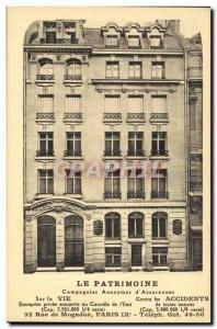 Old Postcard The Heritage Insurance 32 Rue de Mogador Paris 9th