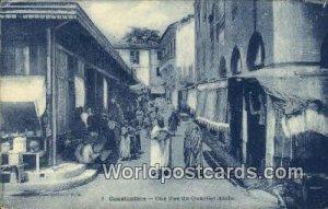 Une Rue du Quartier Arabe Constantine Algeria, Africa, Writing on back