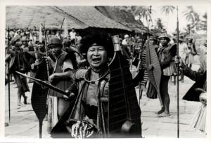 indonesia, NIAS, Real Photo Native Warrior Shield Spear (1930s) RP (08)