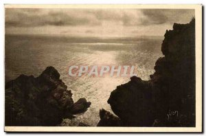 Old Postcard The islands of Porquerolles & # 39Hyeres Sunrise on the large dock