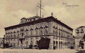 Malta Auberge de Castille Postcard