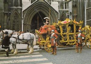 London Lord Mayors Coach in 1970s Procession Postcard