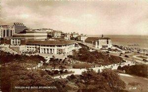 Bournemouth Pavilion and Baths Promenade Beach Panorama Postcard