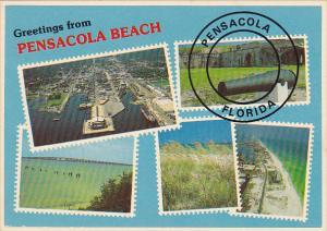 Multi View Greetings From Pensacola Beach Florida