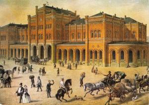 Postcard Art CASSEL Train Railway Station GERMANY (1860) by C. Euler #44