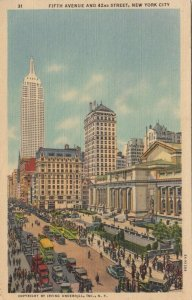 NEW YORK CITY, New York; PU-1941; Fifth Avenue and 42nd Street