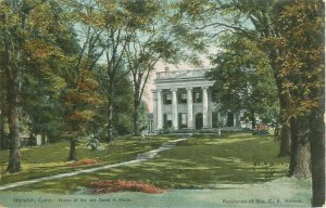 Norwich, CT Residence of Mrs C E Havens Vintage Postcard