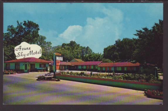 Azure Sky Motel,Fort Scott,KS Postcard