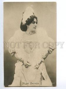 129854 Medea FIGNER Italian Russia OPERA Star Singer PHOTO old