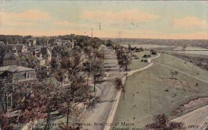 Western Promenade From Top Of Maine General Hospital 1911