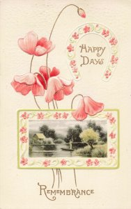 Postcard Happy Days Remembrance