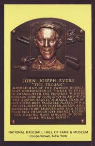 John Joseph Evers Baseball Hall Fame Post Card 3278