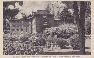 New York Poughkeepsie Baldwin House The Infirmary Vassar College Albertype