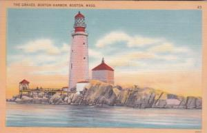 Massachusetts Boston Harbor The Graves Lighthouse