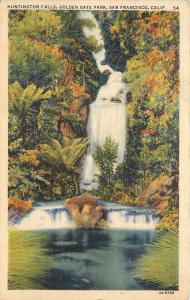 San Francisco,California~Huntington Falls~Golden Gate Park~1938 Postcard