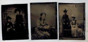 Tintype   of Women 1860's Period Clothing