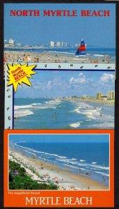 SC Lot 3 Beach MYRTLE BEACH SOUTH CAROLINA Postcards Carte Postales