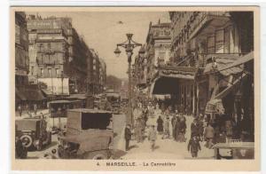 La Cannebiere Street Scene Marseille France postcard