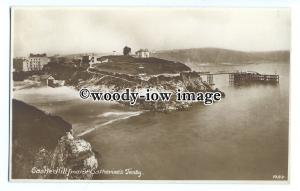 tq1370 -  Looking across to Castle Hill, from St. Catherine's, Tenby - Postcard
