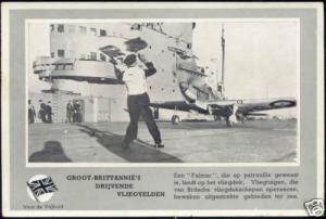 WWII, British Fighter Fulmar Landing (1940s) Dutch Ed