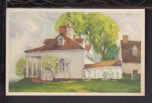 Mansion,Mount Vernon,VA Postcard
