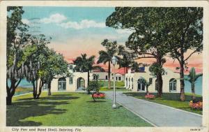 City Pier And Band Shell, SEBRING, Florida, PU-1946