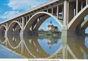 Canada Bessborough Hotel Through Broadway Bridge Saskatoon Saskatchewan