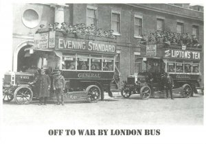 Off to War by London Bus Mayfair cards of London postcard