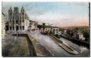 Old Postcard Angouleme The Cathedral St Pierre and the Remparts