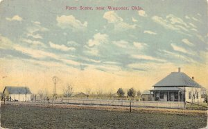 Farm Scene, near Wagoner, Oklahoma ca 1910s Vintage Postcard