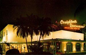 Florida Fort Lauderdale Creighton's Restaurant At Night