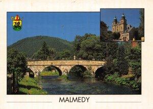 Belgium Malmedy Church River Bridge Pont Postcard