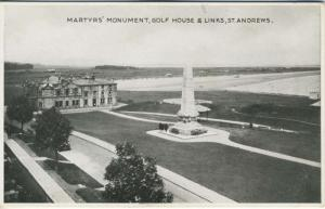 Martyrs Monument Golf House & Links Course St. Andrews Scotland UK Postcard E11