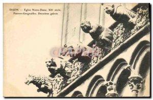 Old Postcard Gargoyle Dijon Eglise Notre Dame False gargouiilles Second gallery
