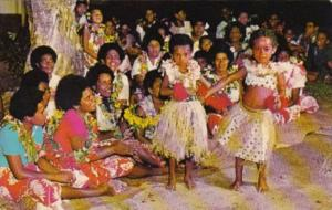 Fiji Young Dancers At The Korolevu Beach Hotel