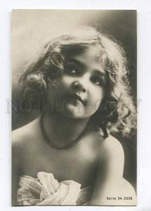 257744 NUDE Lovely GIRL Curly Vintage PHOTO RPH #54-2058 PC