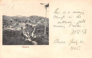 Ghana Gold Coast Obuassi 1905 postcard
