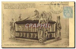 Postcard Old Nantes Tomb of Duke Francois II cathedral