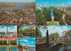 Dusseldorf Em Rhein 4x Lake River x 1970s German Postcard s