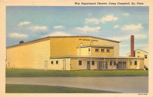 Military Camp Post Card Camp Campbell, KY-TN USA War Department Theatre Unused