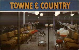St. Petersburg FL Towne & Country Beauty Salon Art Deco Chairs Postcard