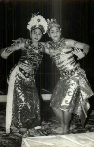 Bali Women Costume Bumble Dance Singapore Cancel Real Photo Postcard