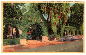 California Riverside , entrance to Mission Inn