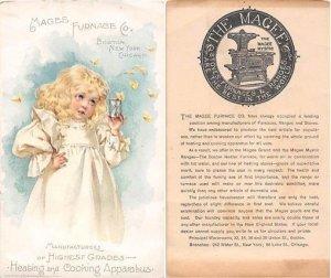 Victorian Trade Card Approx size inches = 3.5 x 5.75 Pre 1900 crease