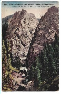 Colorado Springs, CO - Pillars of Hercules, So. Cheyenne Canyon - 1915
