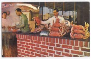 Vintage Postcard California San Fransisco Fisherman's Wharf King Crabs Kettle