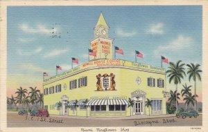 Florida Miami Mayflower Shop Restaurant Maxwell House Coffee 1950 Curteich s4277