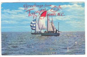 Sail Boating , Topsail Island , North Carolina, PU-1974