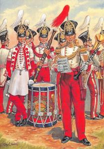 Postcard Uniforms of the Royal Marines, Band, Portsmouth Division, c1839 #35-3