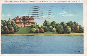 New York Thousand Island Calumet Island Near Clayton C G Emery Estate 1943